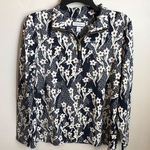 Charter Club Floral Print Top Size Medium